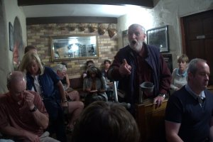 Ted McCormack singing in Gus O'Connell's at Doolin