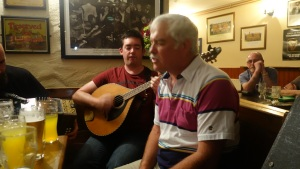Mike from Virginia singing in Gus O'Connell's at Doolin