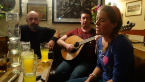 Kate from Virginia singing in Gus O'Connell's at Doolin