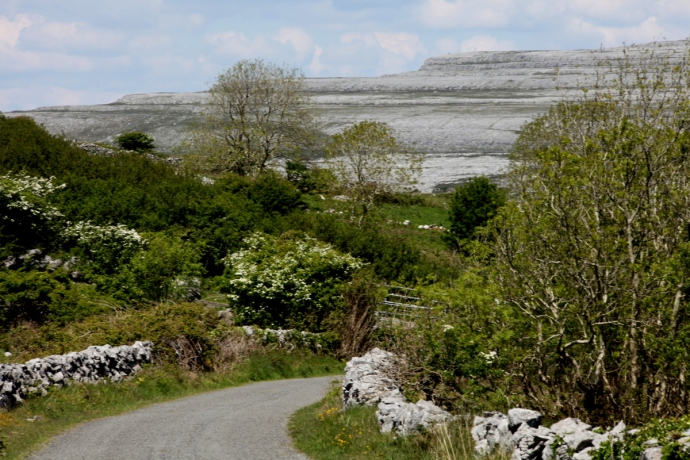 Driving into the Burren