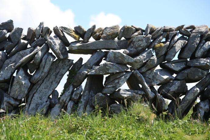 The Burren. Dry stone wall