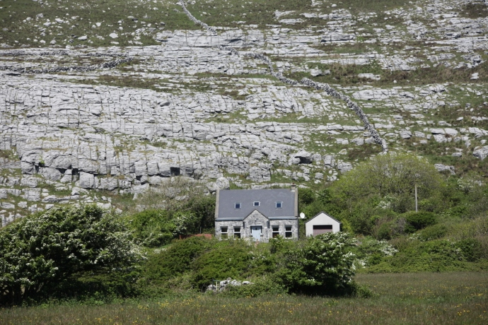 The Burren.  Cottage near Mullaghmore.