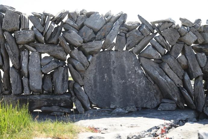 The Burren.  Stone fence