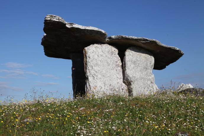 Poulnarbrone Dolmen.  The Burren