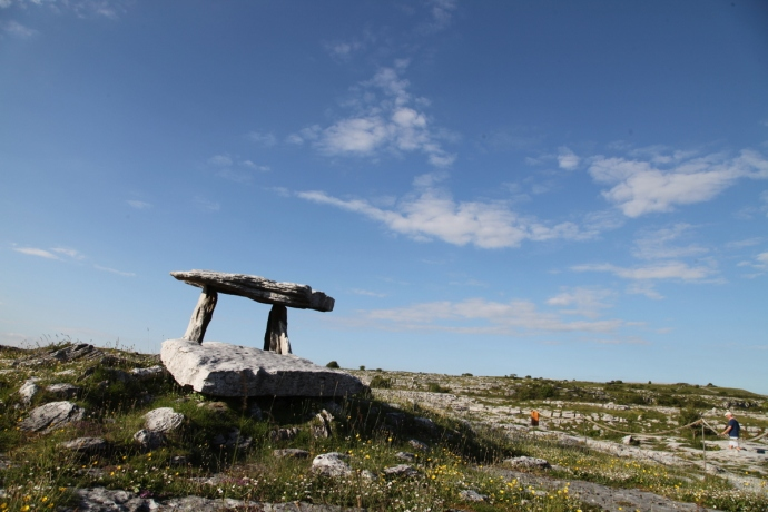 Poulnarbrone Dolmen.  The Burren
