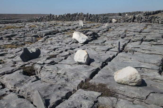 Inis Mor.  Glacial erratics near Black Fort