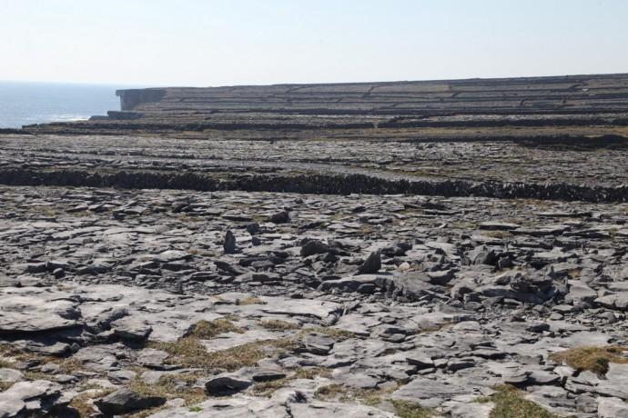 Inis Mor. Burren landscape.