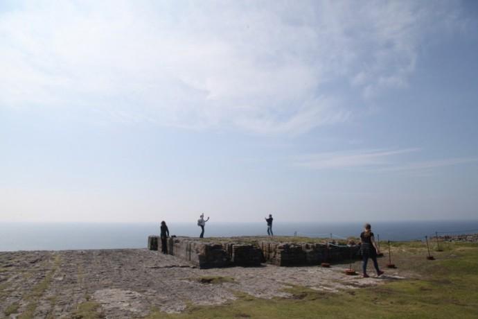 Inis Mor.  Rock platform Dun Aengus fort