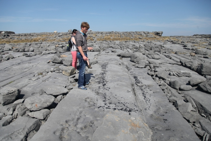 Inis Mor.  Site where Curragh was re-tarred