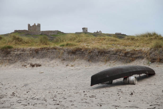 Inisheer.  Curragh and ruins