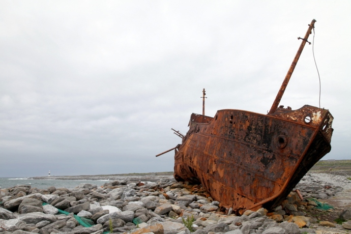 Inisheer.  Wreck of the Plassey