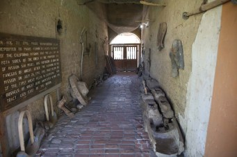 Alleyway used to bring sheep into the courtyard