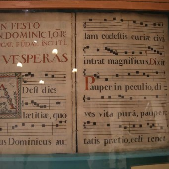 Illustrated music manuscript