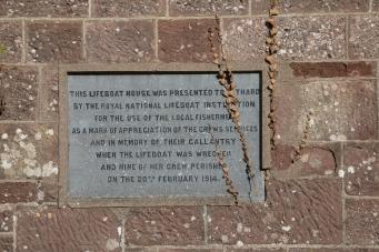 Plaque on Lifegoat House at Fethard