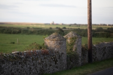 Beautiful stone turrets for gateposts are a feature.