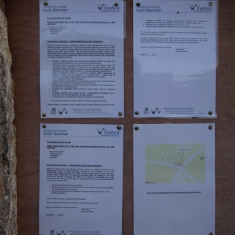 Notices from Wexford Council regarding dangerous condition of the hous