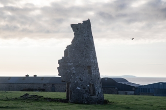 Ruin of windmill on Hook Head peninsula